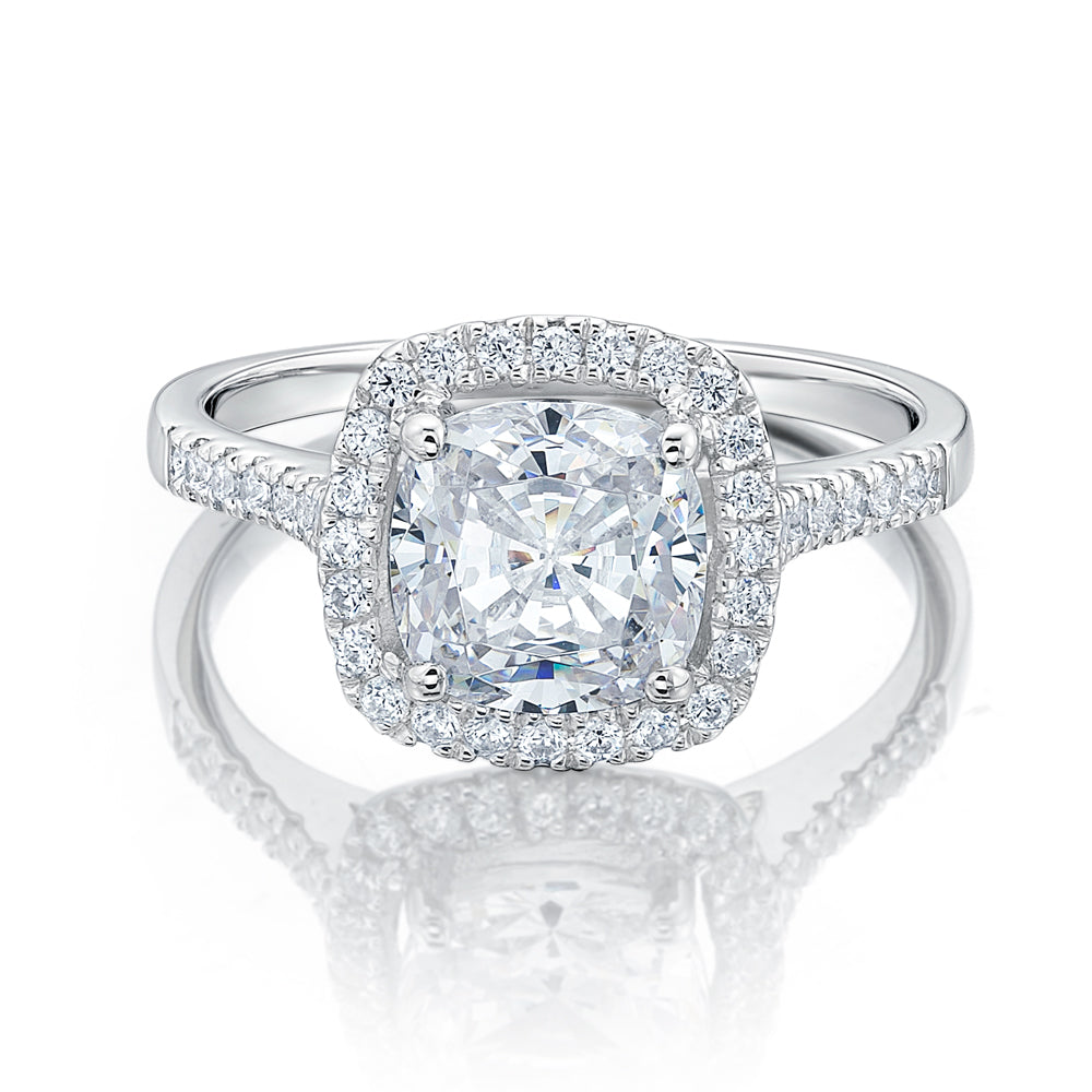 Halo Cushion diamond engagement ring new photo
