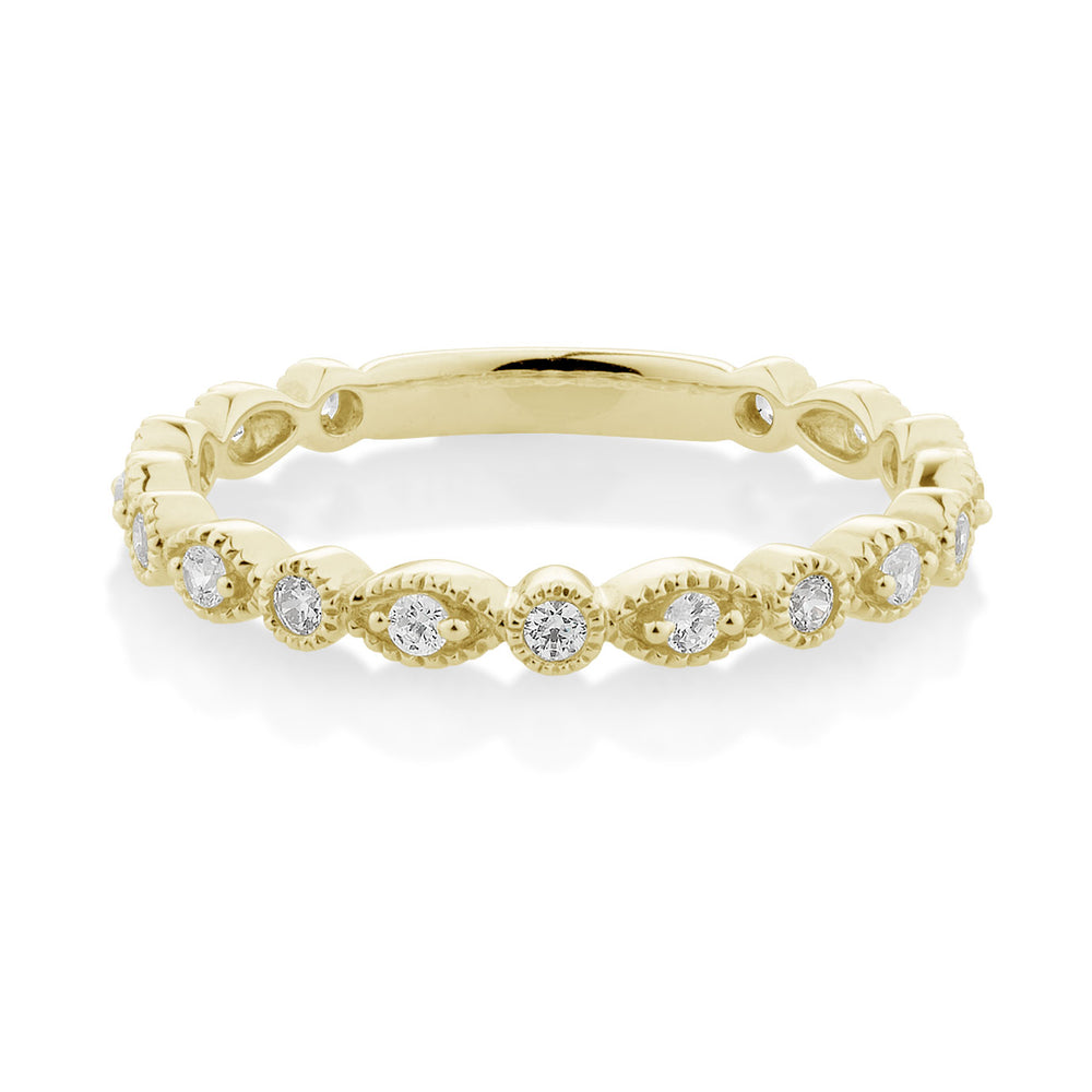 Decorative Round and Oval Celebration band Yellow Gold
