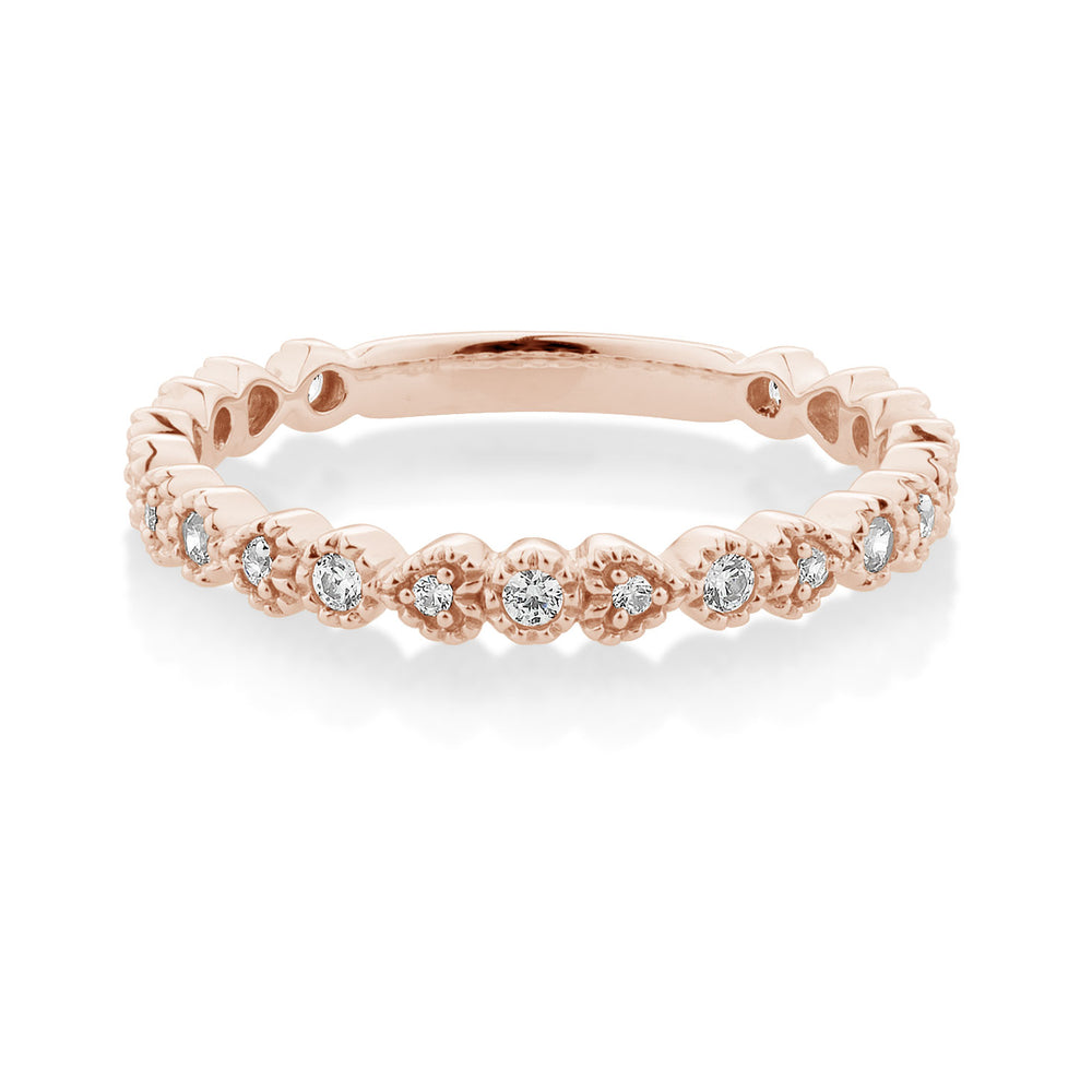 Round and Heart Celebration Band Rose Gold