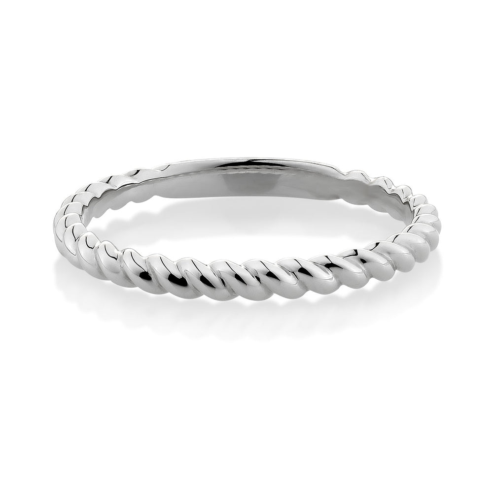 Plain Twist Celebration band White Gold