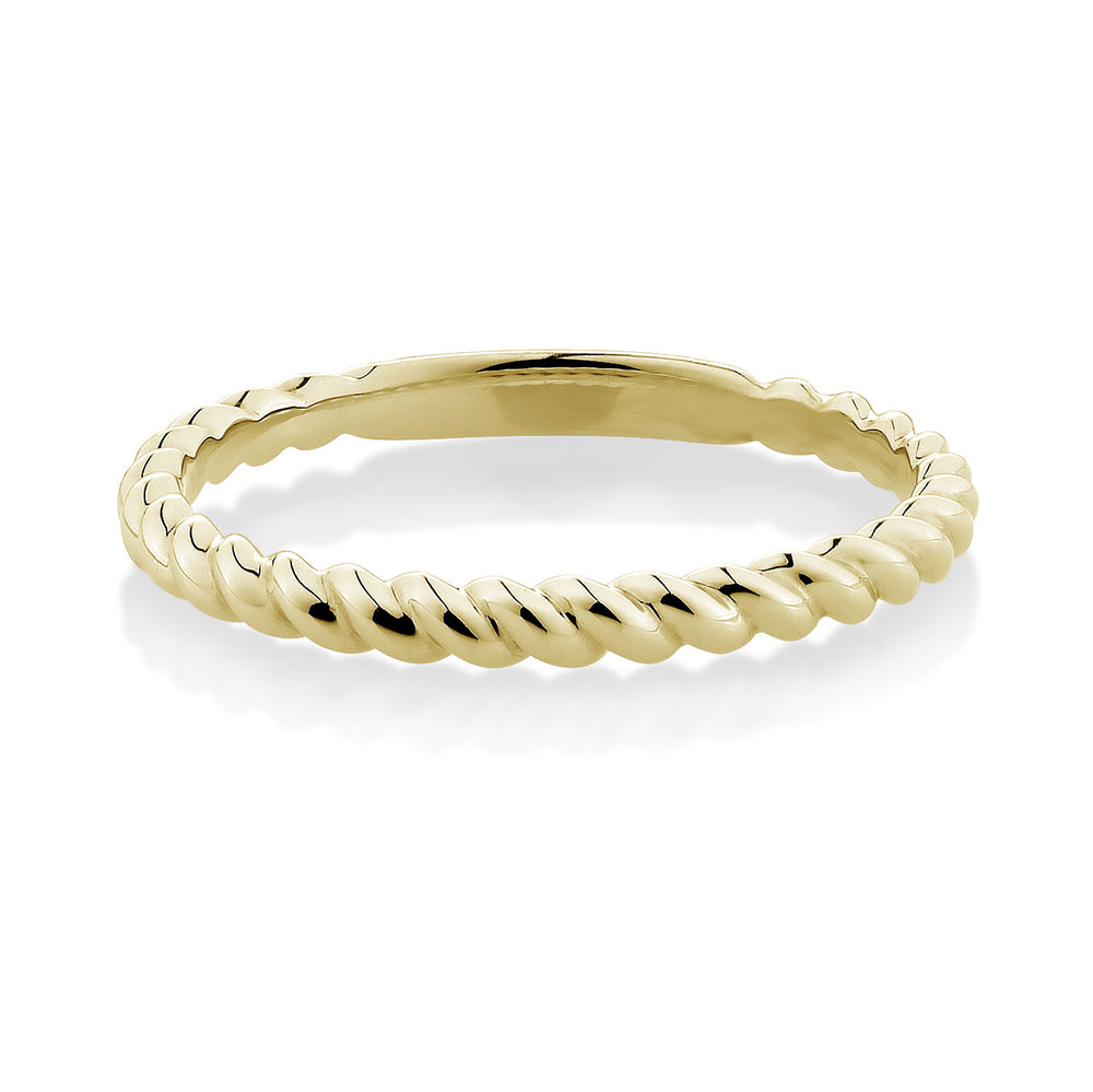 Plain Twist Celebration band Yellow Gold