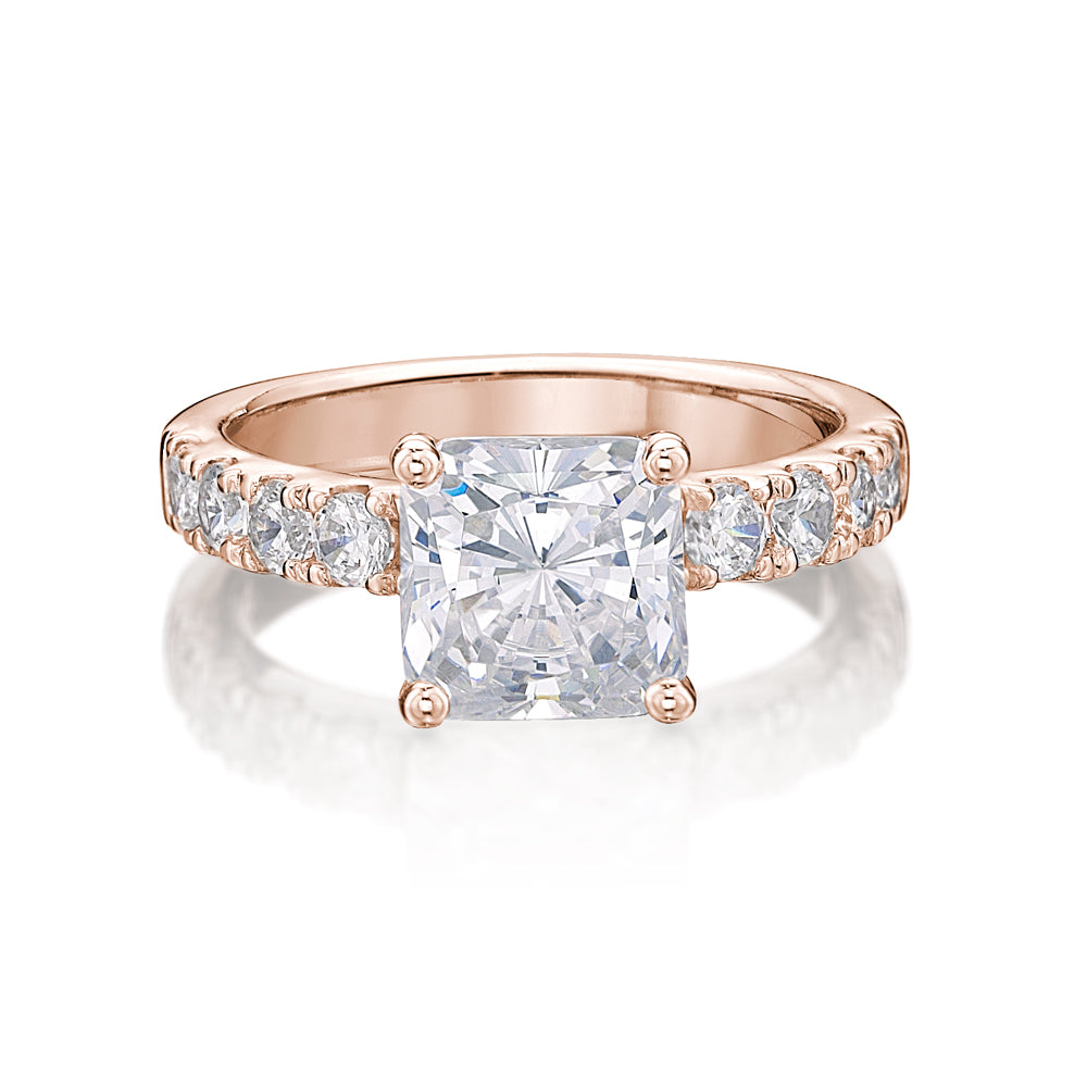 Princess Cut Engagement Ring in Rose Gold