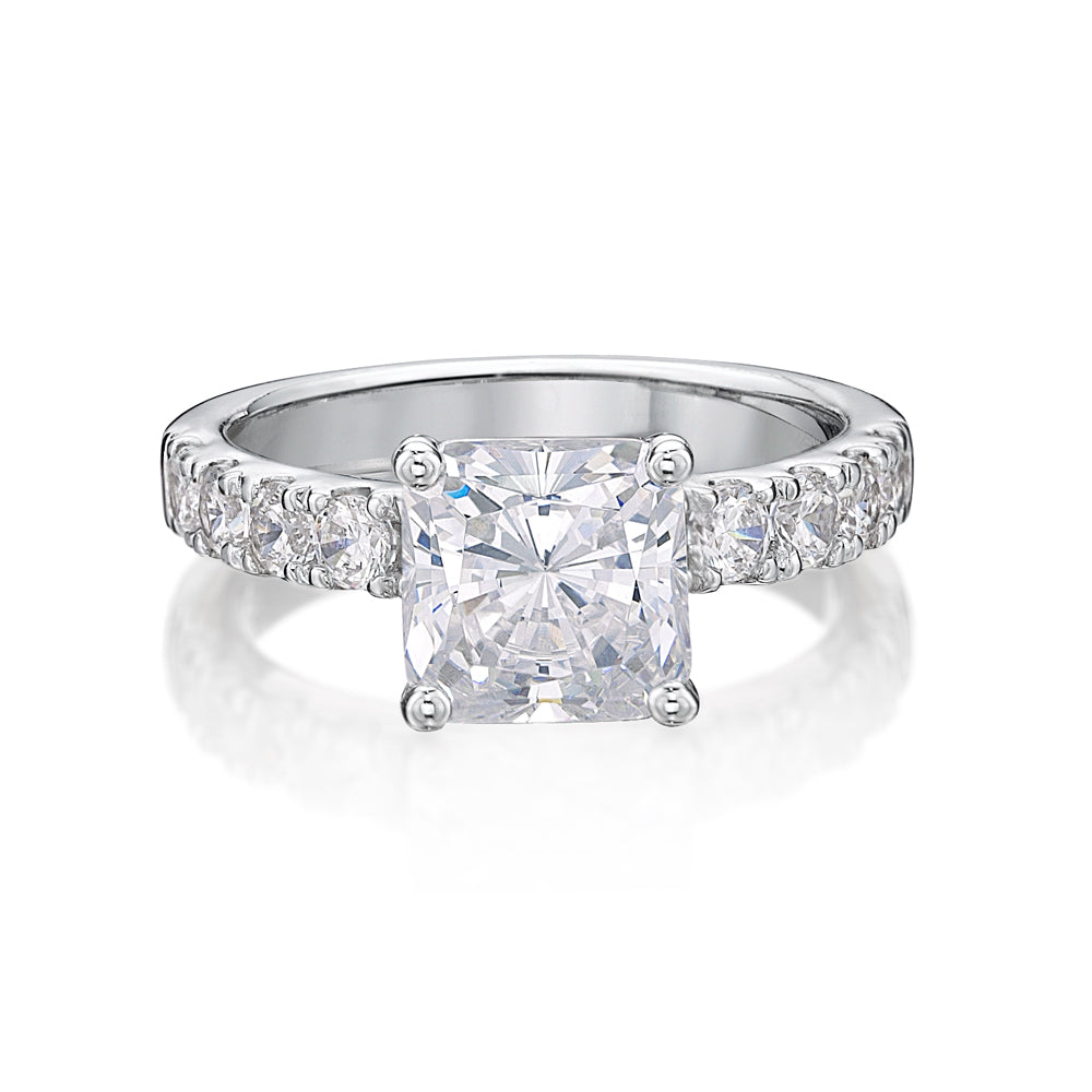 Princess Cut Engagement Ring in White Gold