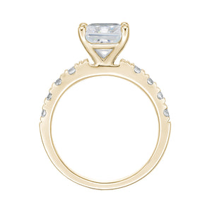 Princess Cut Engagement Ring in Yellow Gold