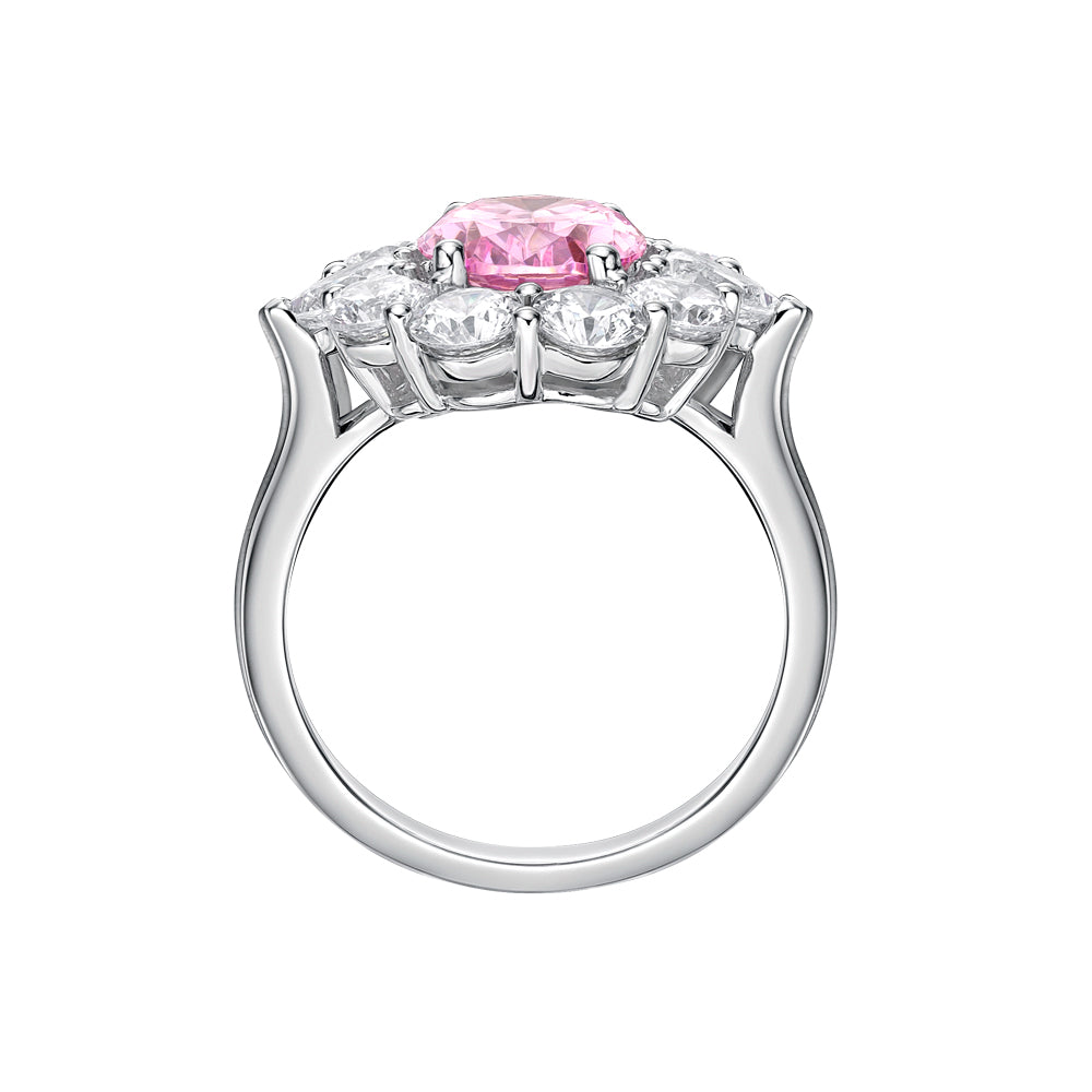 crown pid gold engagement jewellery coloured stone rings ring products floral