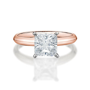 Princess Cut Gift Set in Rose Gold w/ White Gold Setting