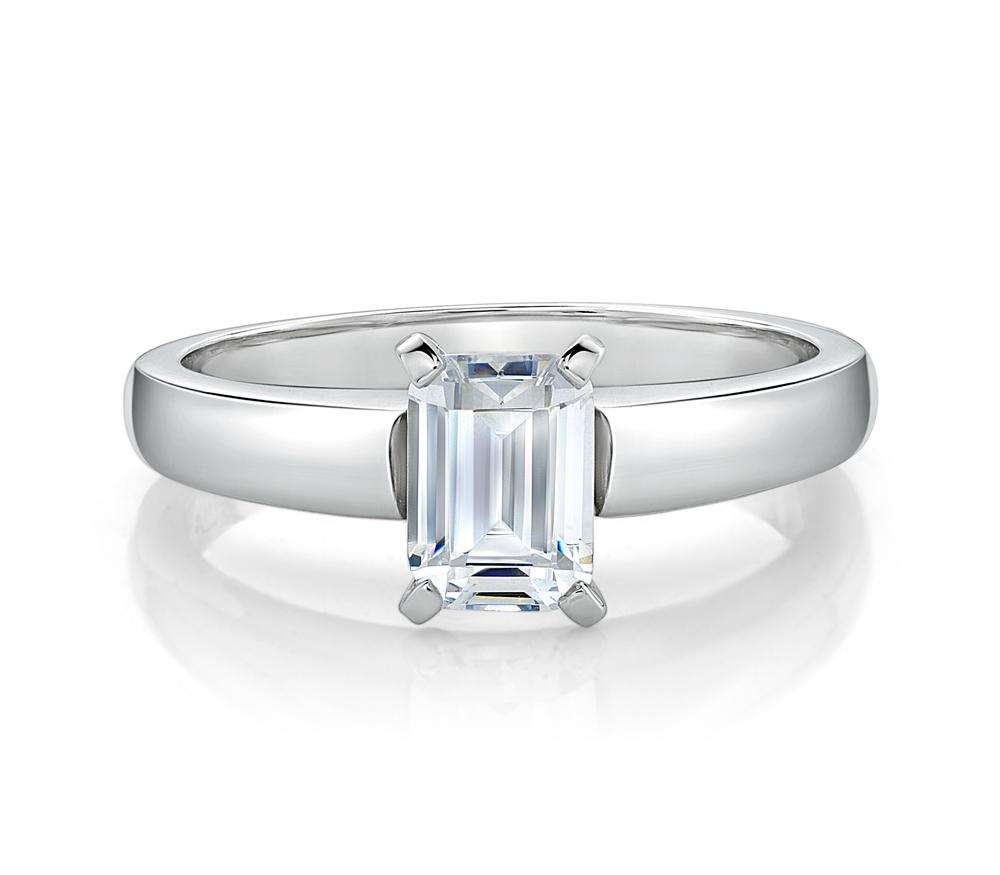 art emerald cut ring gia collections deco solitaire diamond collection image platinum f