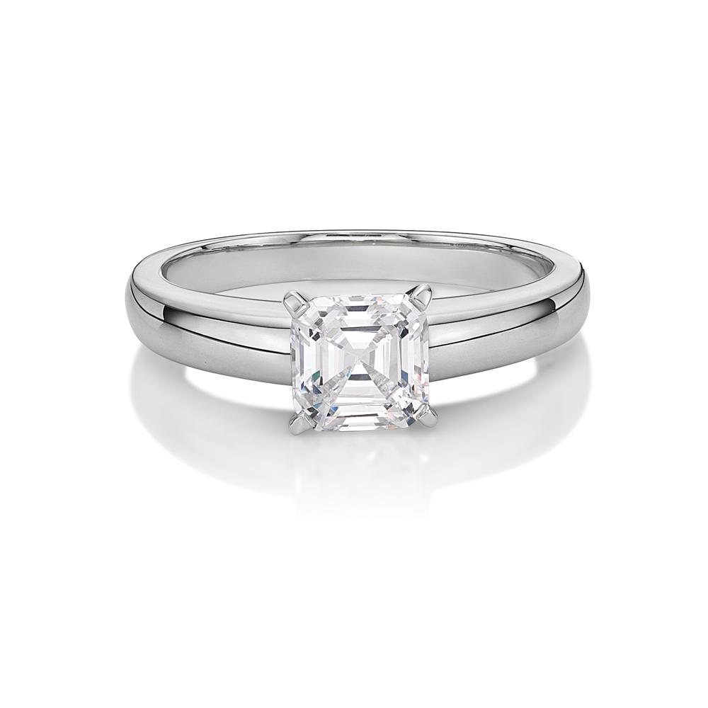 asscher cut products rings moissanite engagement ring nicole princess