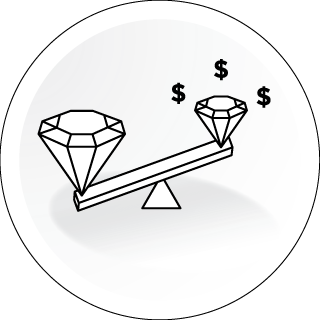PAY UP TO 80% LESS THAN AN EQUIVALENT MINED DIAMOND*