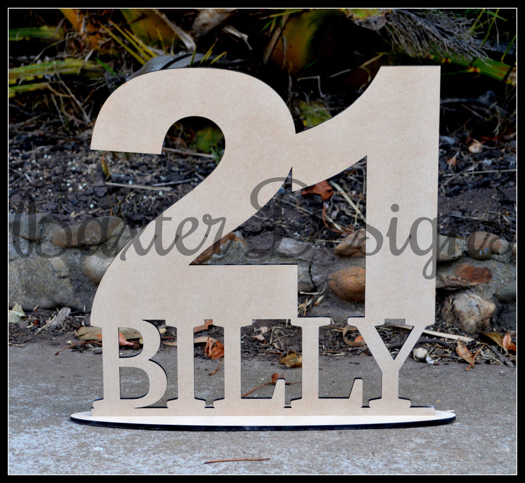 Age and Name Signing boards Birthday Party Wedding Engagement Event Wooden - Baxter Designs Australia