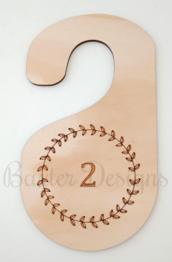 Clothes Size, Siblings and Style Hanger Wooden Hanging Dividers SET OF 6 - Baxter Designs Australia