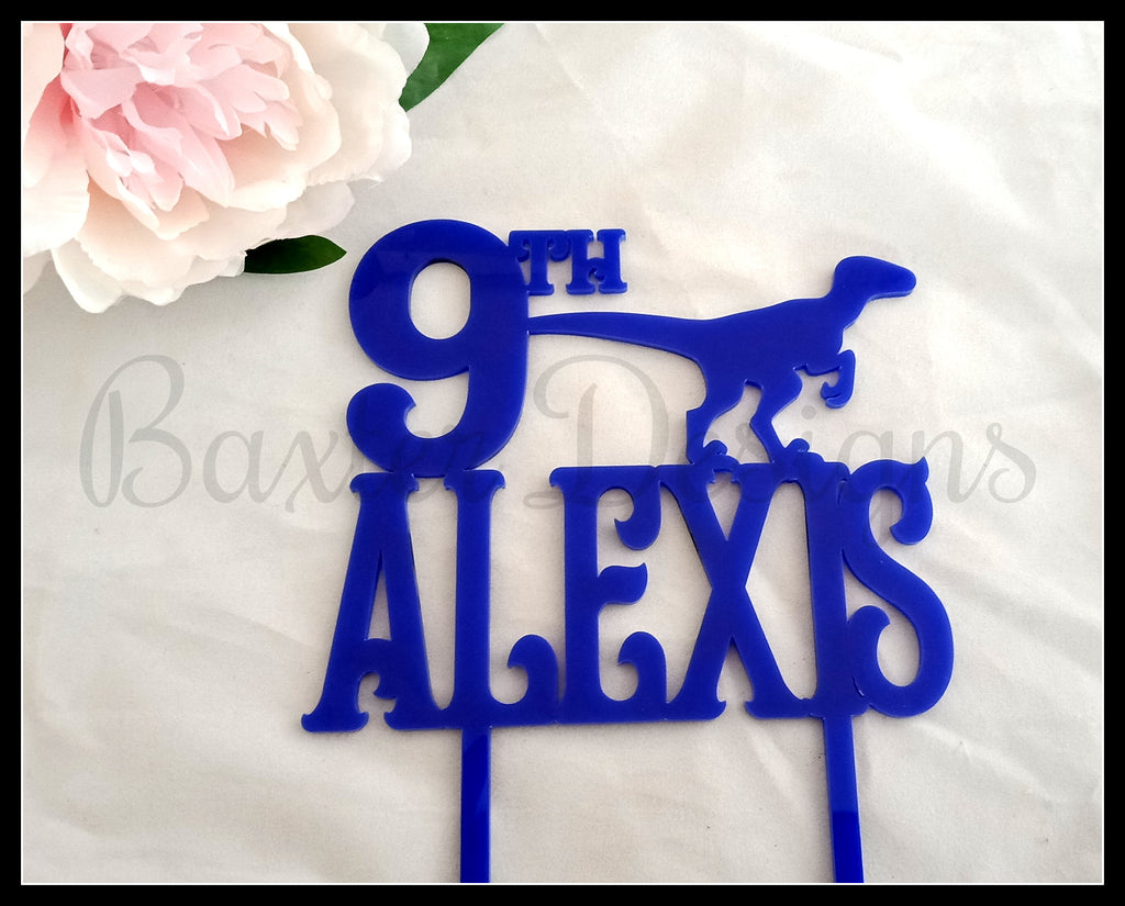 Personalised Coloured Acrylic Cake Topper Birthday Wedding Engagement Custom