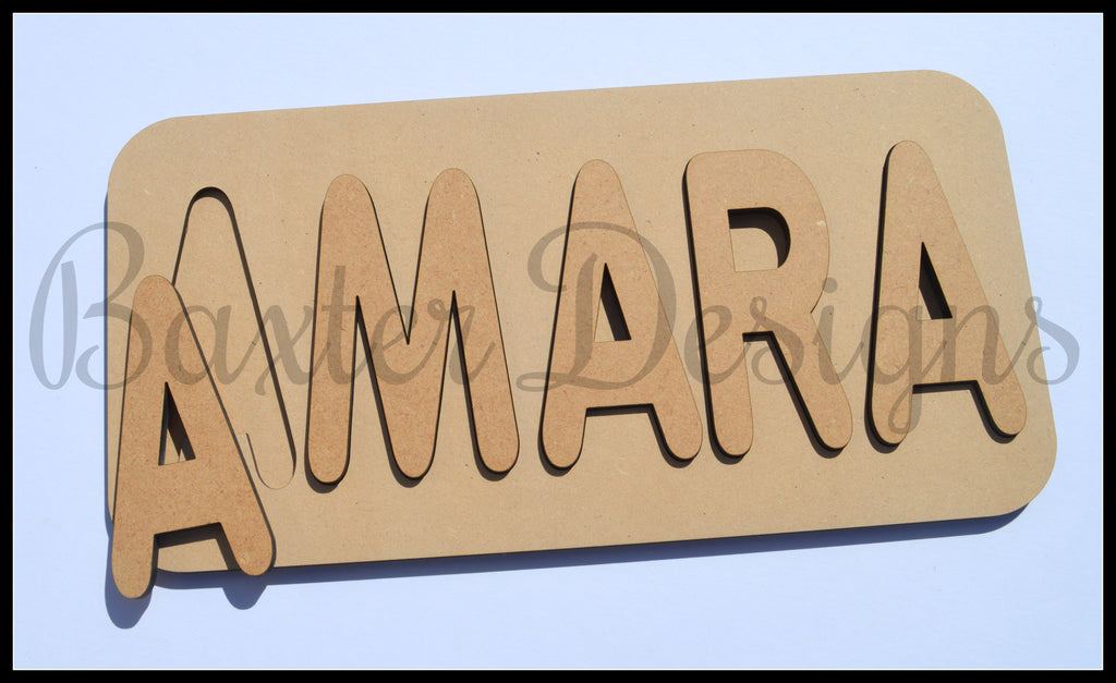 Personalised Name Puzzle 5-7 Letter Raw
