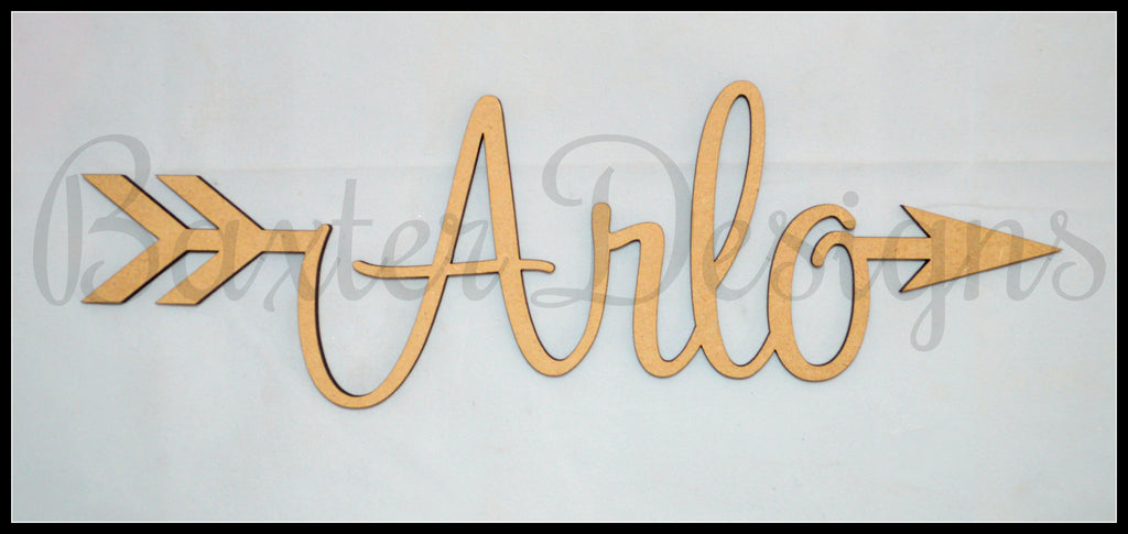 Arrow and Heart Names Wooden Wall Decor Home Childrens Room