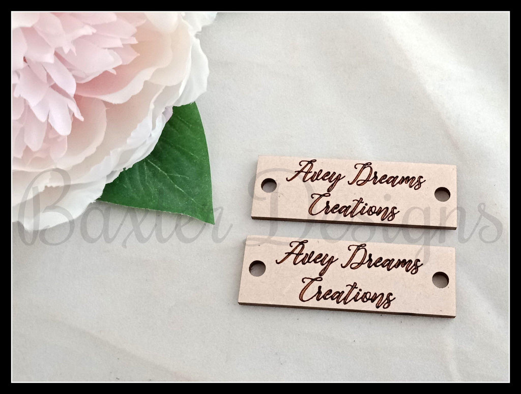 Business Wooden Sew on Labels - Baxter Designs Australia