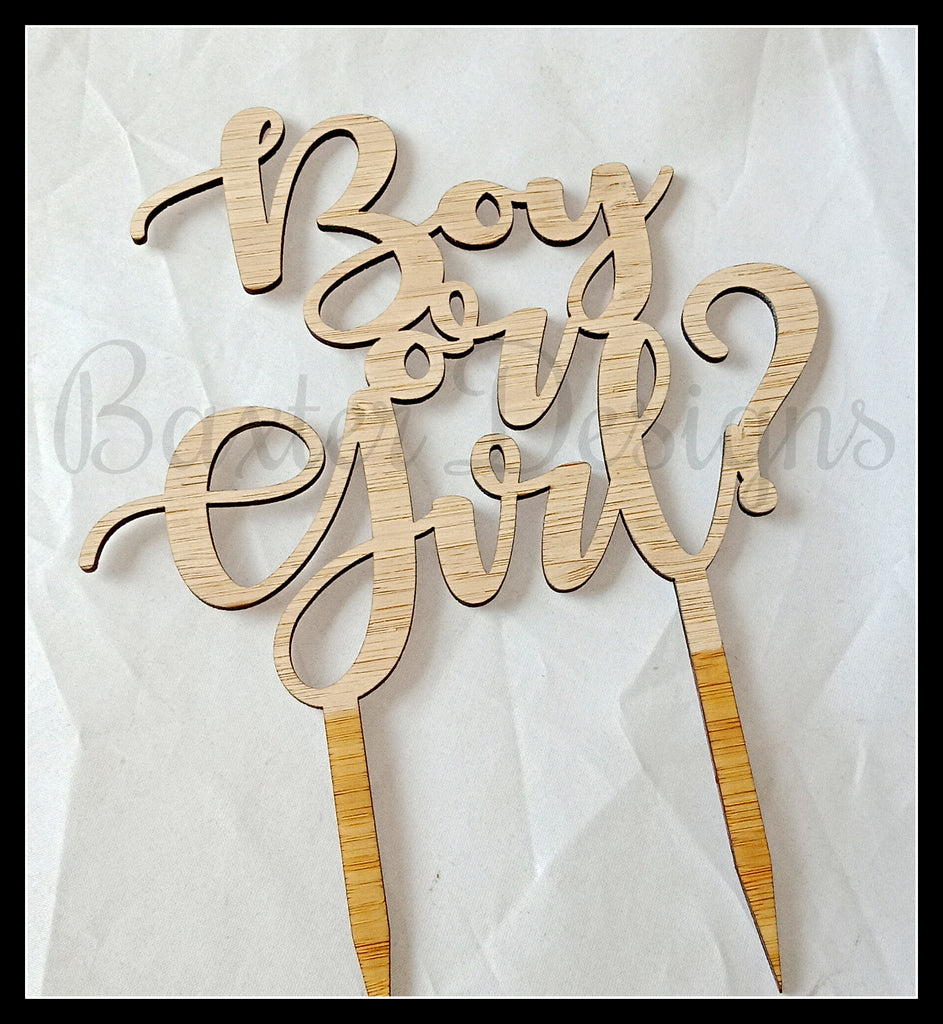 Bamboo Wood Cake Toppers Birthday Party Wedding Engagement Event Wooden Topper