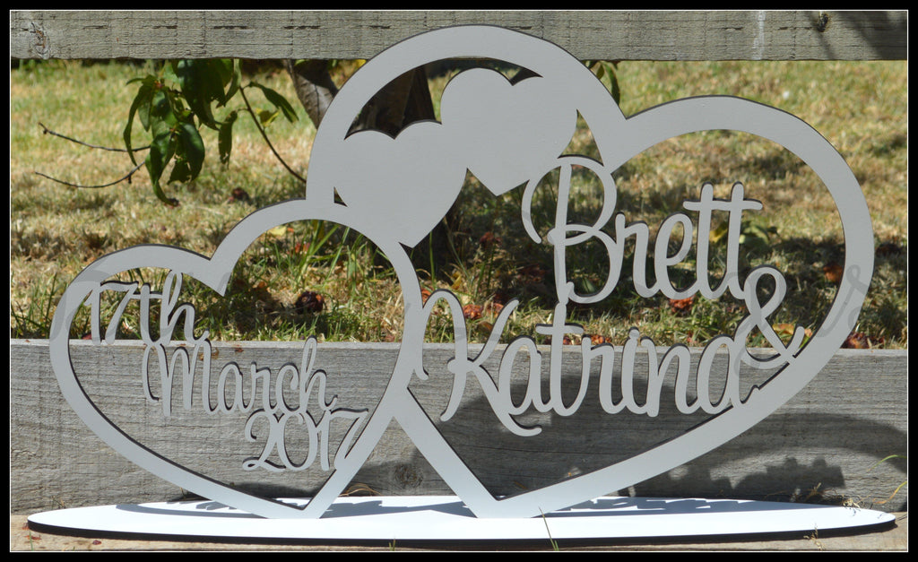 Bridal Table Mr & Mrs Sign with date Birthday Party Wedding Engagement Event Wooden