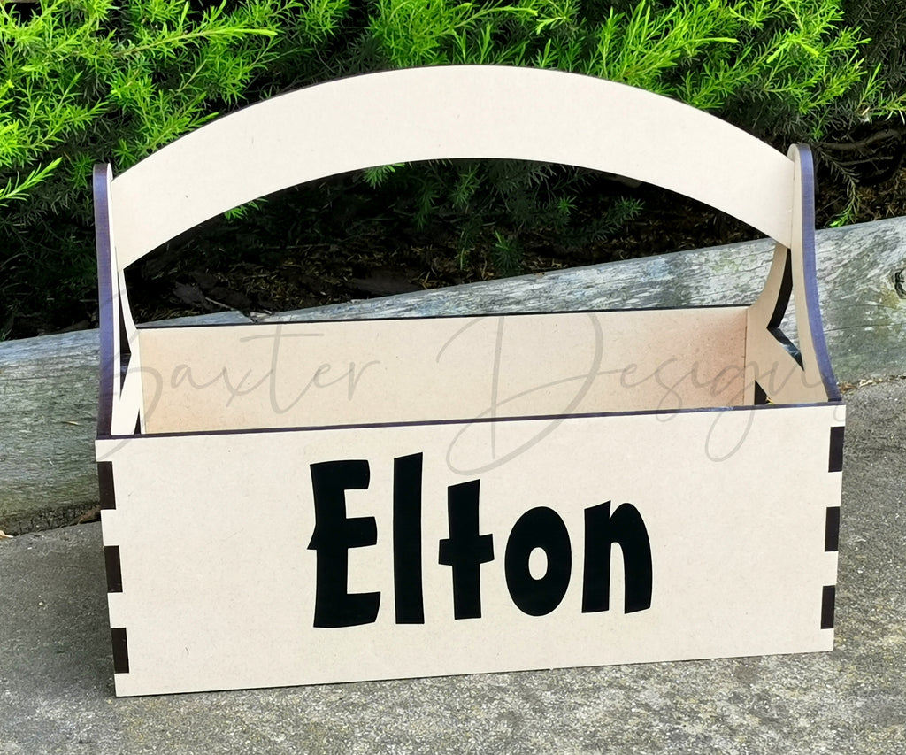 Personalised Wooden Easter Egg Carry Basket