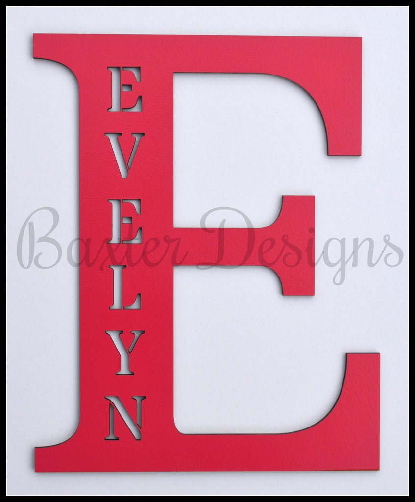 wooden letters personalised pink
