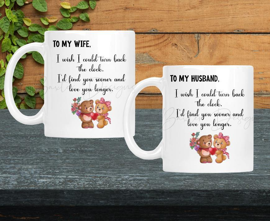 Valentines Day Mug To my Husband / To my Wife - Baxter Designs Australia