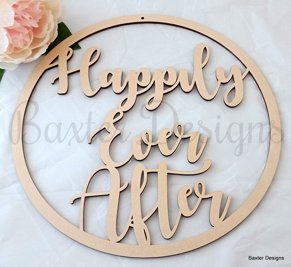 Hanging Hoop Name Sign 50cm MDF Personalised