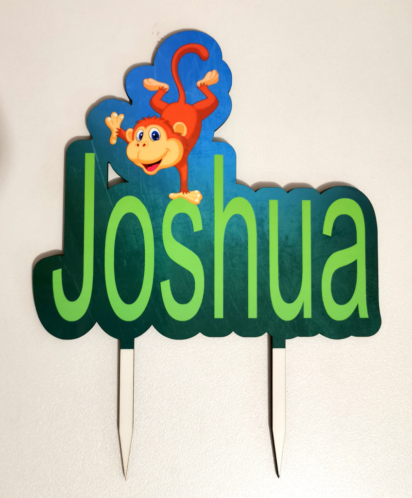 Personalised Colour Printed wood Cake Toppers Birthday Wedding Engagement Custom