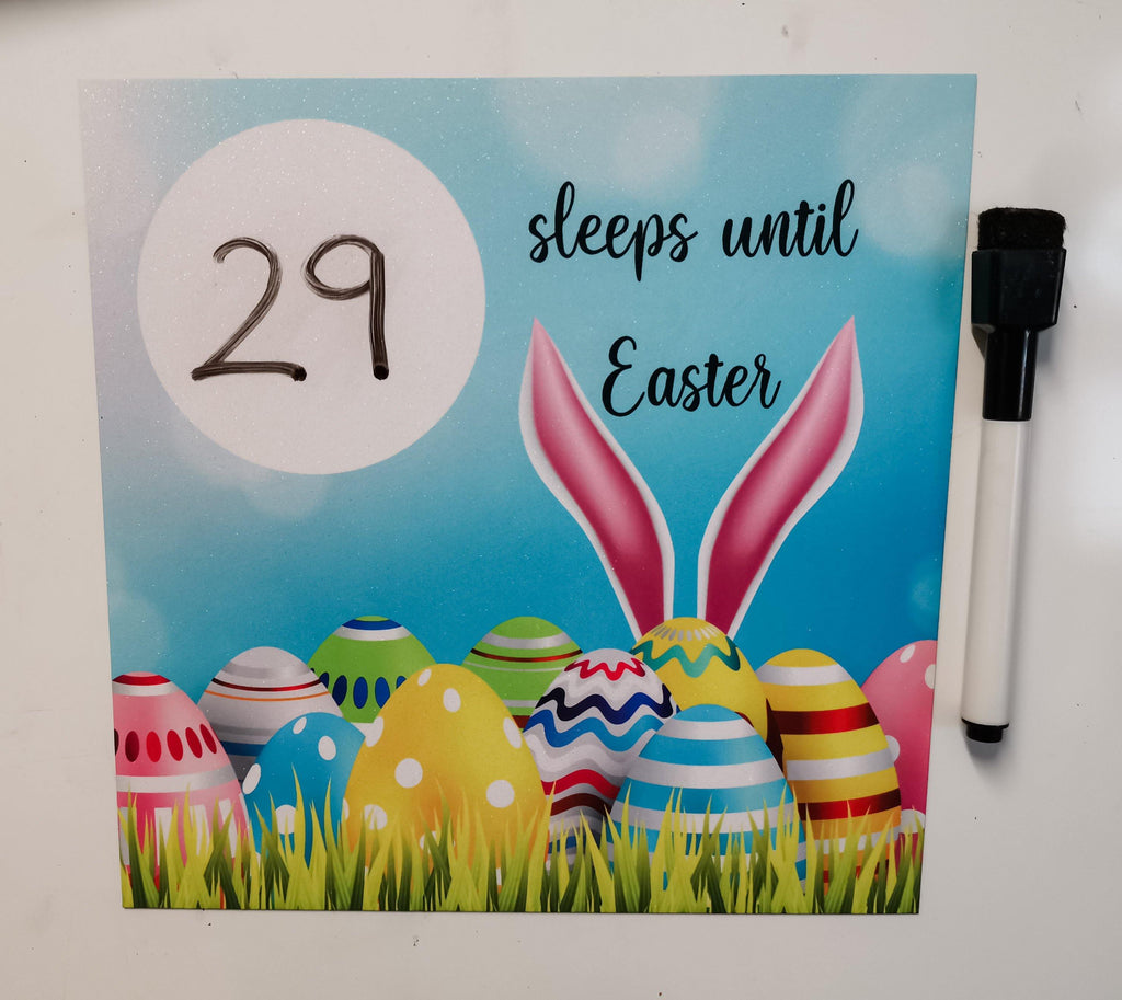 Easter countdown magnetic fridge whiteboard sign magnet board