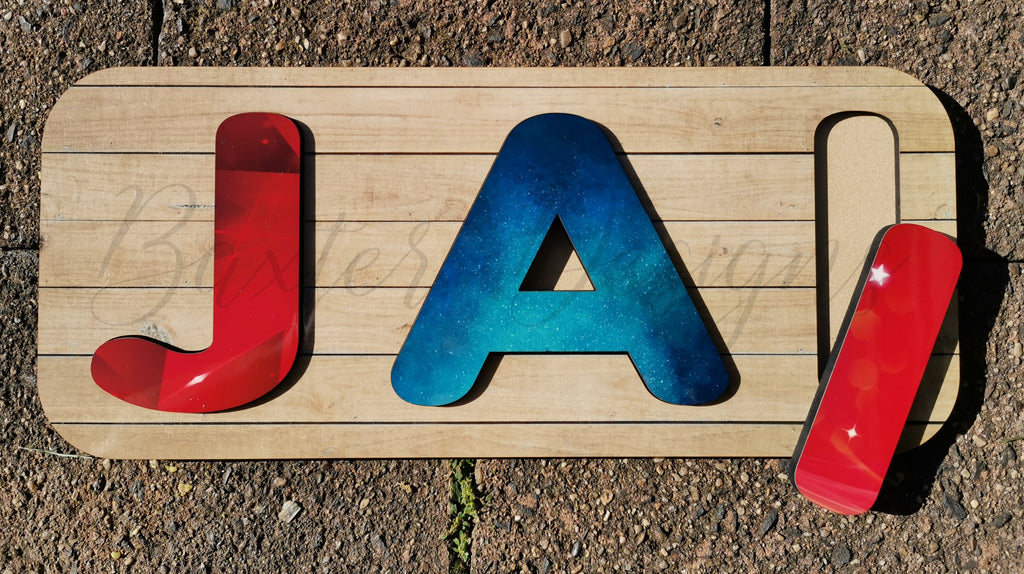 3-4 Letter Name Puzzle Printed Personalised Wooden Puzzles