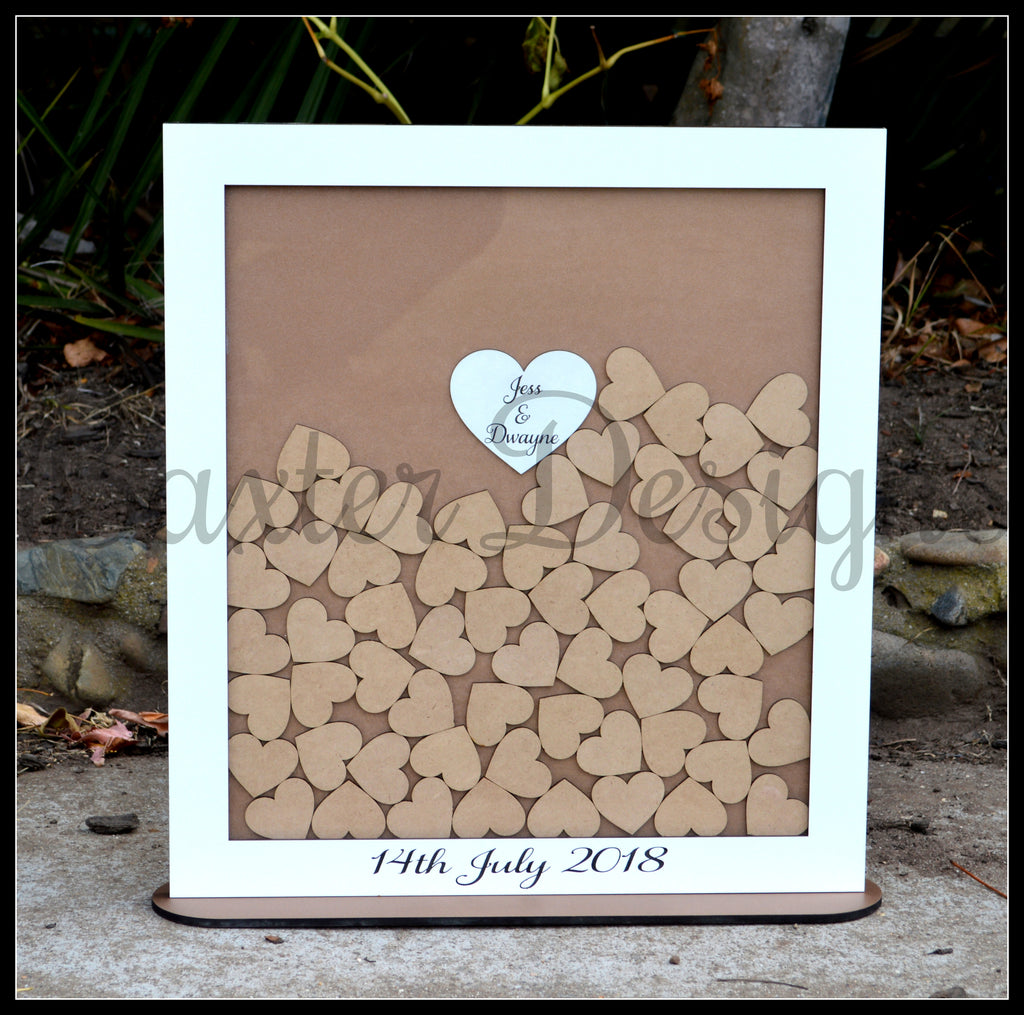 Wedding Engagement Party Birthday Heart Drop Box Guestbook Signing