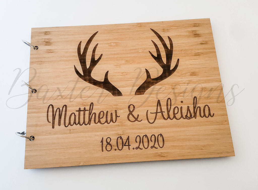 Guestbook Signing for Birthday, Engagement, Wedding and Parties Bamboo Ply Wood A5