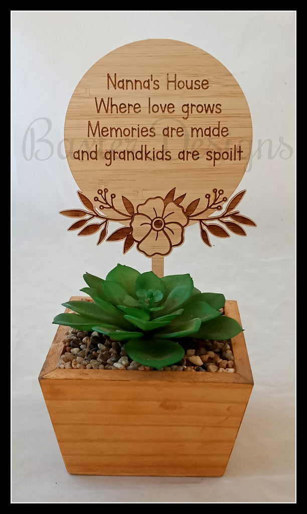 Mothers Day Plant Stick Garden Birthday Christmas Gift Present Personalised Mum Grandmother