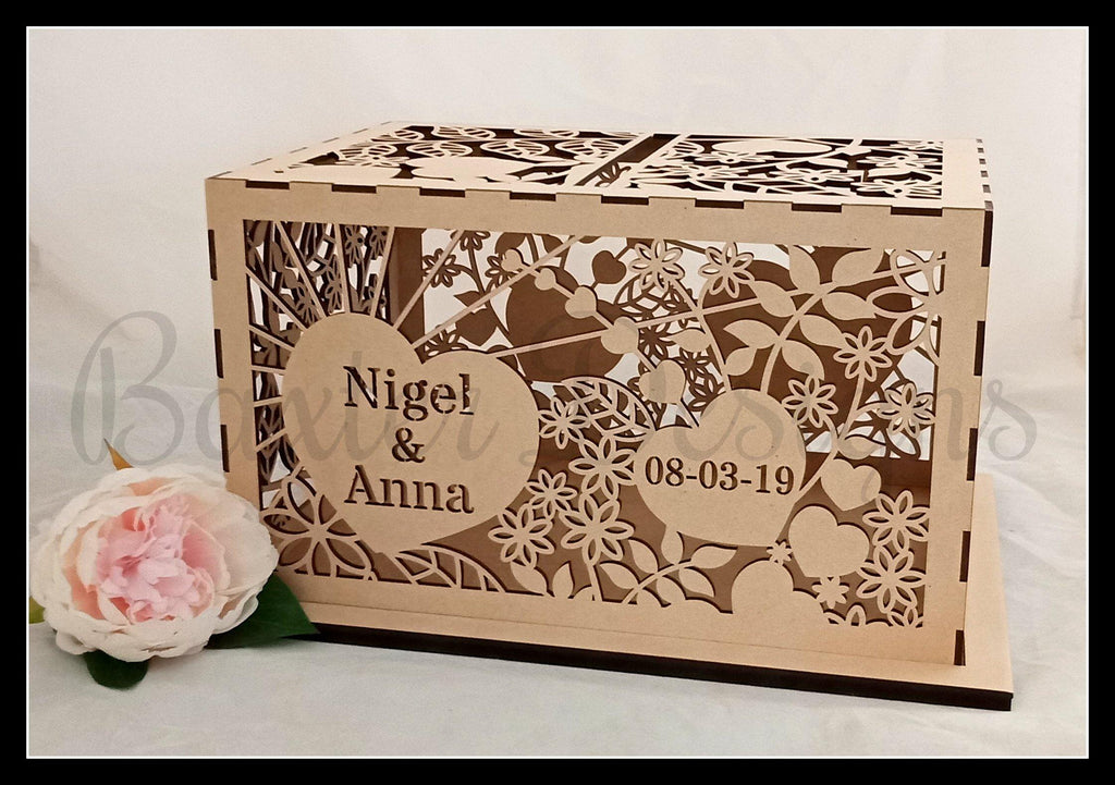 FLAT PACK of Single Box RAW Wooden Wedding Engagement Party Card Wishing Well Box - Baxter Designs Australia