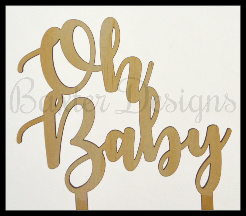 Ply wood Cake Toppers Birthday Party Wedding Engagement Event Topper