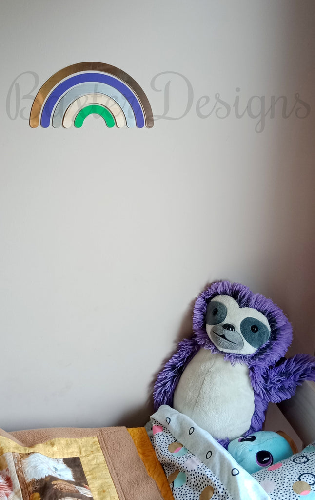 Rainbow Wood & Acrylic Wooden Wall Decor Home Childrens Room