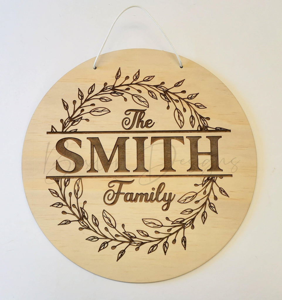 Family Surname Wall Sign Floral - Baxter Designs Australia