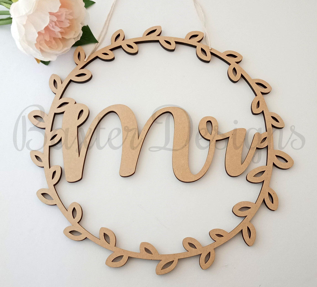 Chair Wreath Signs Back of Chair Wedding Mr and Mrs Hanging plaque Baby Shower Just Married Mr & Mrs Mummy to be