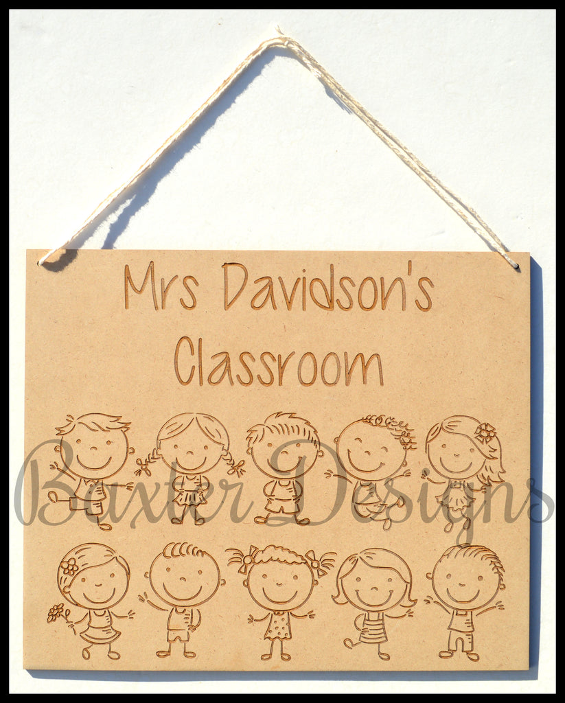 Teachers Classroom Sign Personalised Door Hanging