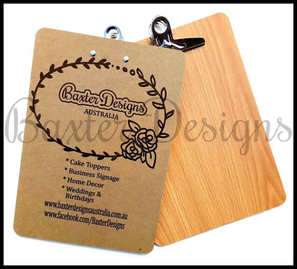 Wooden Clipboard with logo designs