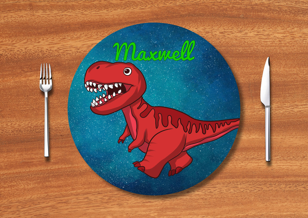 Personalised Round Printed Placemat and Coasters.