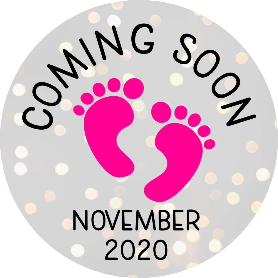 Baby Announcement Coming Soon Milestone Wooden Printed Discs 10cm Photo Props Set