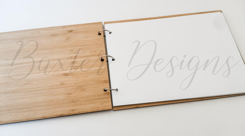 Guestbook Signing for Birthday, Engagement, Wedding and Parties Bamboo Ply Wood A4