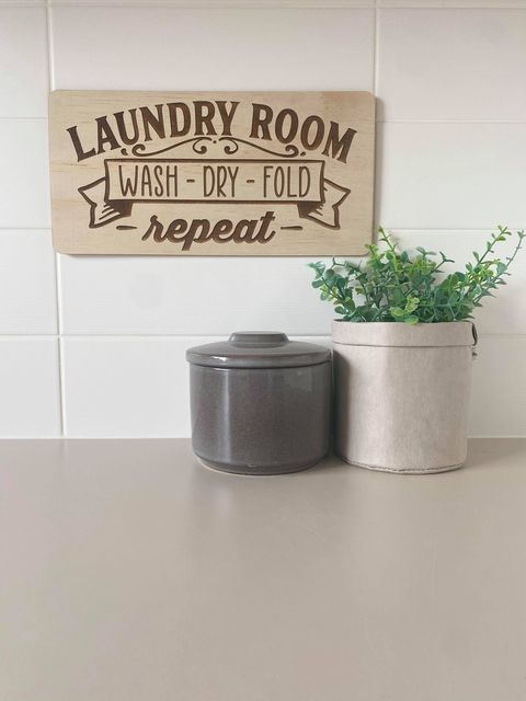 Laundry Room Sign - Wash, Dry, Fold, Repeat