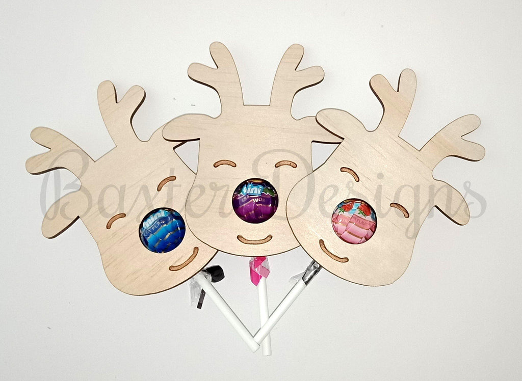 Christmas Reindeer Lollipop Face - Baxter Designs Australia
