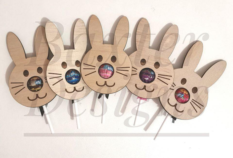 Easter Bunny Lollipop Face - Baxter Designs Australia