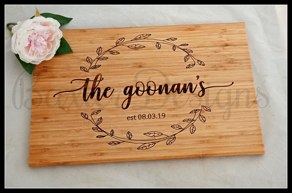 Personalised Wooden Rectangle Chopping Boards Wedding Anniversary Gift Present Birthday