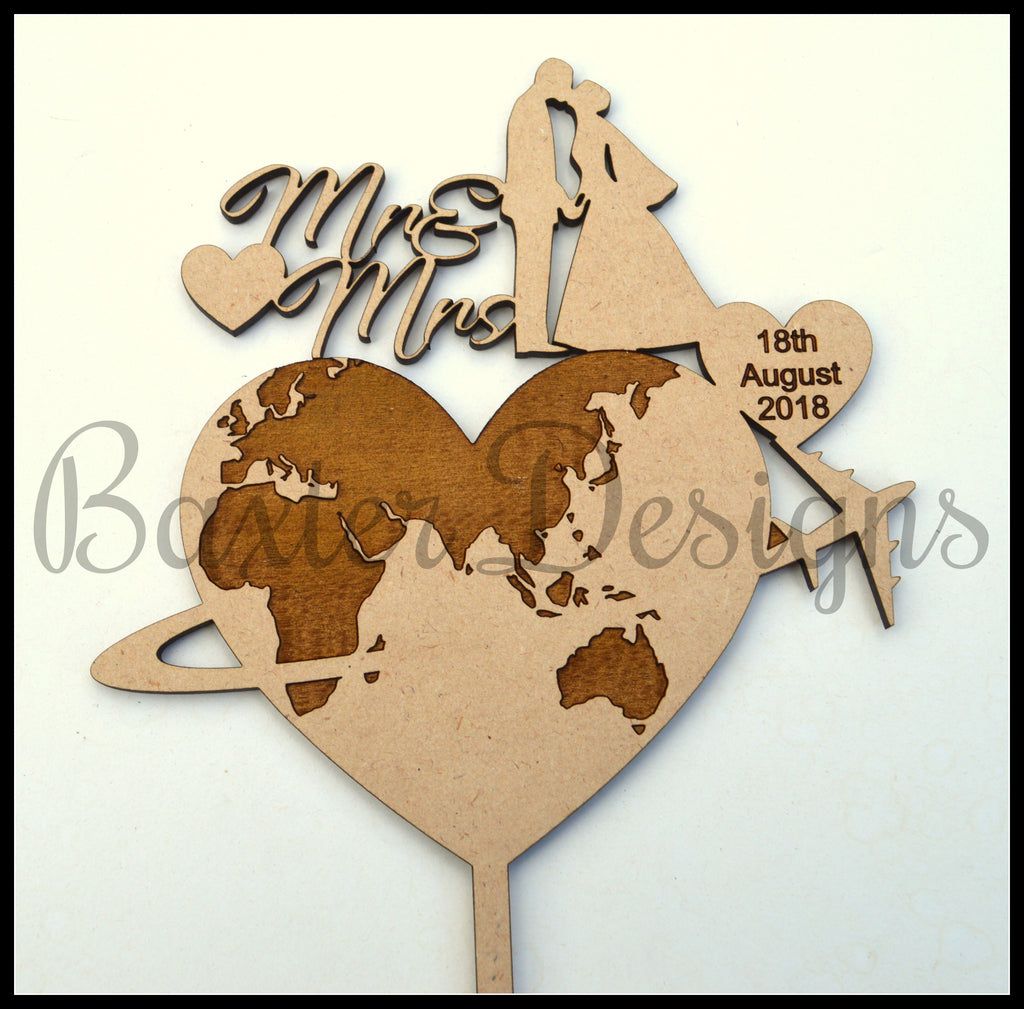 MDF wood Cake Toppers Birthday Party Wedding Engagement Event Topper