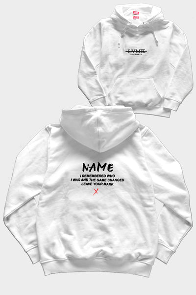 PERSONALIZED LVMK HOODIE - WHITE