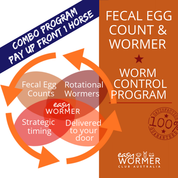 Pay Up Front 1 Horse | Fecal Egg Count + Wormer | Combo Worm Control Program 6 x a Year