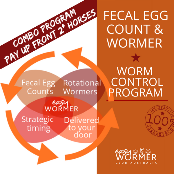 Pay Up Front 2+ Horses | Fecal Egg Count + Wormer | Combo Worm Control Program - 6 x a Year