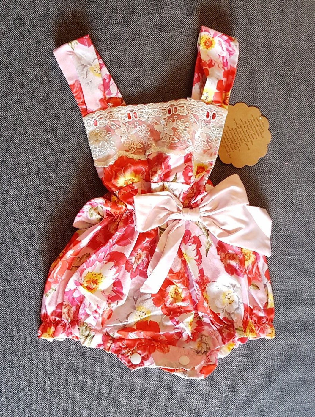 Baby romper rose bouquet